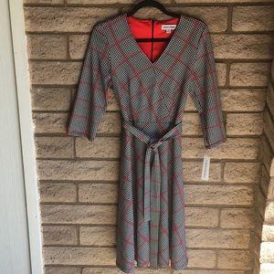 Houndstooth Grey Dress Shelby & Palmer